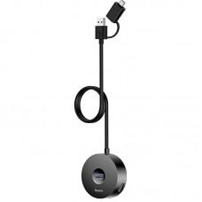 USB HUB Baseus Round Box USB-Type-C 4USB 3.0 Black (CAHUB-GA01)