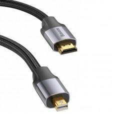 Кабель MiniDisplayPort-HDMI Baseus 4K 60Hz 2m Black/Grey (CAKSX-M0G)