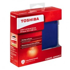 "Внешний жесткий диск HDD 2.5"" USB 3.0 2TB Toshiba Canvio Advance Blue (HDTC920EL3AA)"