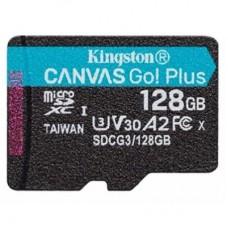 Карта памяти MicroSDXC 128GB UHS-I U3 Kingston Canvas Plus R170 W90MBs (SDCG3/128GBSP)