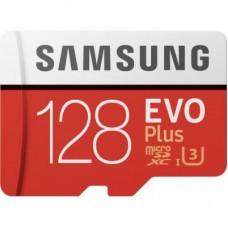 Карта памяти MicroSDXC 128GB UHS-I U3 Samsung Evo Plus R100 W60MBs + Adapter SD (MB-MC128HA/RU)