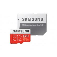 Карта памяти MicroSDXC 512GB UHS-I U3 Samsung Evo Plus R100 W90MBs + Adapter SD (MB-MC512HA/RU)