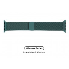 Браслет Metal Armorstandart Milanese Loop для Apple Watch 42mm 44mm Pine Green (ARM56982)
