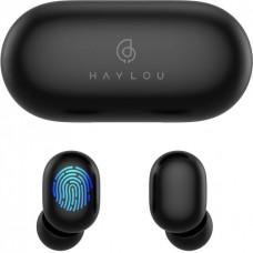 Наушники гарнитура вакуумные Bluetooth 5.0 Haylou GT1 Black (652131)