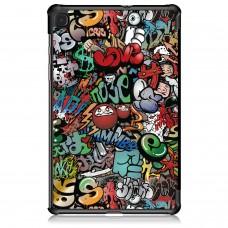 Чехол книжка PU BeCover Smart для Samsung Tab S6 Lite P610 P615 Graffiti (705197)
