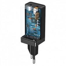 СЗУ 1USB Type-C Baseus GaN2 QC 4.0 PD 3.0 3A 45W + Cable Type-C-Type-C (CCGAN-Q01) Black