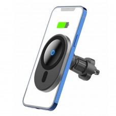 Автодержатель Wireless SK для iPhone 12 Gen Magnetic 360° 1.67A 15W Type-C на решетку Black