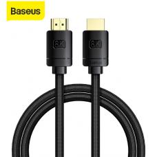 Кабель HDMI-HDMI v2.1 Baseus 8K 60Hz 4K 120Hz 2K 144Hz 48Gbps 1m Black (CAKGQ-J01)