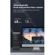 Кабель HDMI-HDMI v2.1 Baseus 8K 60Hz 4K 120Hz 2K 144Hz 48Gbps 2m Black (CAKGQ-K01)