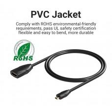 Удлинитель HDMI-microHDMI v.1.2 Vention M/F PVC 1080P 60Hz gold-plated 1m Black (ABBBF)