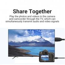 Удлинитель HDMI-miniHDMI v.1.2 Vention M/F PVC 1080P 60Hz gold-plated 1m Black (ABAAF)