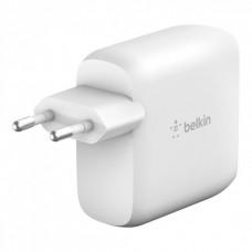 Адаптер сетевой Belkin GAN Type-C PD 60W White (WCH003VFWH)