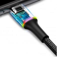 Кабель USB-Type-C Baseus Halo Data 3A (CATGH-B01) Black 1m
