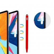 Чехол TPU Goojodoq Hybrid Ear для стилуса Apple Pencil 2 Red