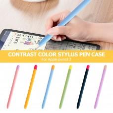 Чехол TPU Goojodoq Matt 2 Golor для стилуса Apple Pencil 2 Blue/Orange