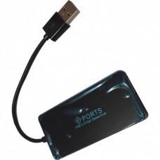 USB HUB Atcom USB-USB 4USB 2.0 TD4005 Black (AT10725)