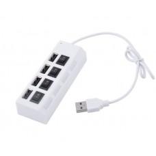 USB HUB Voltronic USB-USB 4USB 2.0 White (YT-HWS4HS-W/03961)