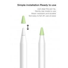 Чехол TPU Goojodoq для наконечника стилуса Apple Pencil (1-2 поколение) (8шт) Yellow