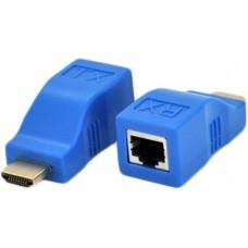 Адаптер Voltronic HDMI-RJ45 до 30m Blue (YT-SCPE HDMI-30m720P/14662)