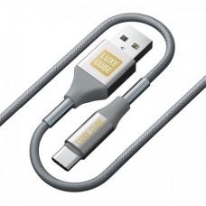 Кабель Luxe Cube Armored USB-Type-C 1m Grey (8886668688949)