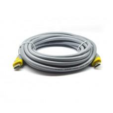 Кабель Merlion HDMI-HDMI 5m Grey/Yellow (YT-HDMI(M)/(M)HSV2.0-5.0m/07409)