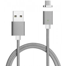 Кабель Voltronic USB-MicroUSB Magnetic 1m Gray (YT-MCFB-M/Gr/15591)