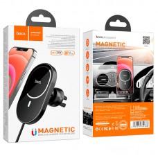 Автодержатель Wireless Hoco CA90 для iPhone 12 MagSafe Magnetic 360° 2A 15W Type-C на решетку Black
