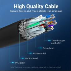 Кабель USB-USB 3.0 Vention F/F PVC Round 5Gbps 2m Black (CONBH)