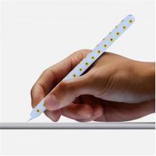 Чехол TPU Goojodoq Flowers Magnetic для стилуса Apple Pencil 2 Sky Blue