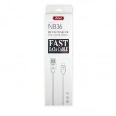 Кабель XO NB36 USB-Type-C 2.1A 1m White (00000011362)