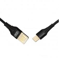 Кабель XO NB118 Weave USB-Type-C 2.1A 1m Black (00000012439)