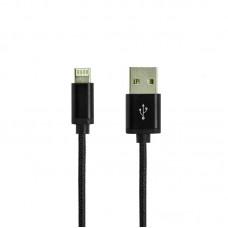 Кабель USB 2 в 1 Lightning Micro Gelius Double Side 1m черный
