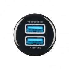 Зарядное устройство автомобильное Ldnio 2USB 3.1A + cable USB-Lightning DL-C23 Black