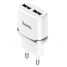 СЗУ Hoco 2USB 2.4A + cable USB-Lightning C12 White