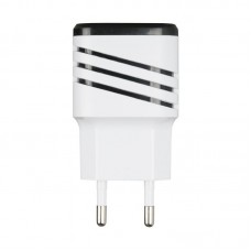 Адаптер сетевой Optima Energy LED 2USB 2.1A White