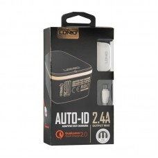 СЗУ Ldnio 1USB 2.4A + cable USB-MicroUSB DL-A1204Q White