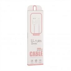 Кабель USB-Lightning Usams US-SJ097 U-Turn iPhone 1m Pink
