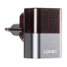 СЗУ Ldnio 2USB 2.4A + cable USB-MicroUSB DL-A2206 Black серый