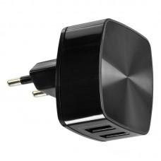 Зарядное устройство сетевое Remax 2USB 2.4A + cable USB-Lightning RP-U215 Black