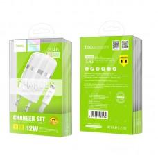 СЗУ Hoco 2USB 2.4A + cable USB-Lightning C41A White