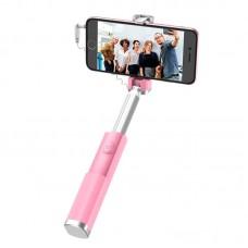 Монопод для селфи Hoco K9 Graceful Mini проводной 3.5 Pink