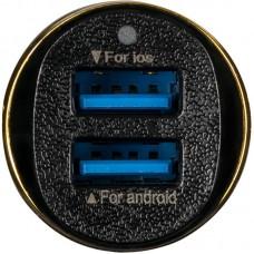 Адаптер автомобильный Optima Voyager OP-CC02 2USB 2.4A Black