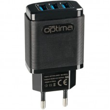 СЗУ Optima Grater OP-HC01 3USB 3.1A + cable USB-Lightning Black