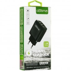 Адаптер сетевой Optima Grater OP-HC01 3USB 3.1A Black