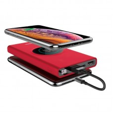 УМБ Power Bank Hoco J37 Wisdom Wireless Charger 10000mAh Red