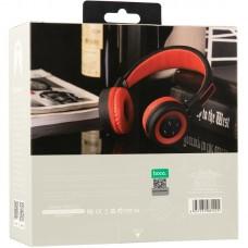 Наушники гарнитура накладные Bluetooth Hoco W16 Red