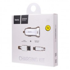 АЗУ 2USB Hoco Z1 + cable USB-MicroUSB 2.1A White