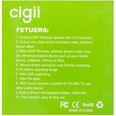 Колонка портативная Bluetooth Cigii F51 Black