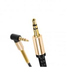 Кабель Audio Aux 3.5мм-3.5мм Hoco UPA-02 2m пружина Black