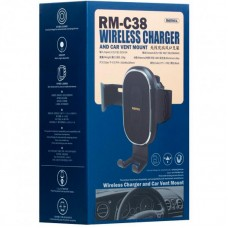 Автодержатель Remax RM-C38 Wireless Charger Black